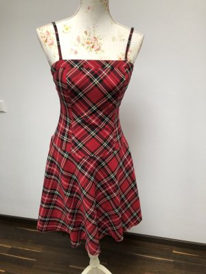 Melrose Vestido de baile rojo ladrillo-negro