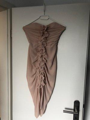 schickes Bandeau Kleid puderrosa von H&M