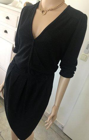 Schickes bequemes Kleid, 3/4 Ärmel, knielang, sexy V-Ausschnitt