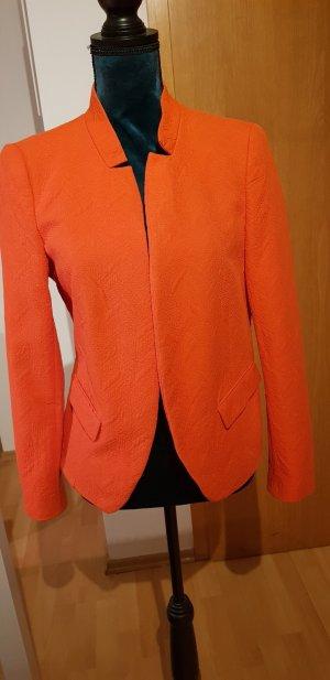 Zara Woman Blazer in lana salmone Cotone