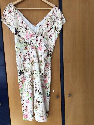 Schickes Blumenprint Etui Kleid