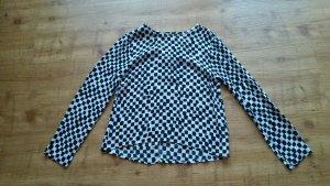 schickes Blusen-Shirt in schwarz-weiß