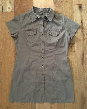 Chillytime Blouse Dress green grey cotton