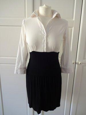 Amisu Blouse Dress black-white viscose