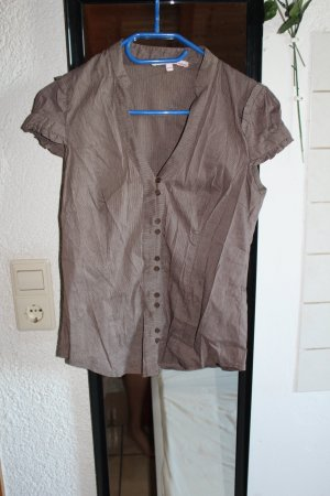 Schickes braunes Kurzarm/ T-shirt Hemd, M 38/10