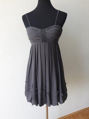 Schickes Cocktail Kleid Dress Laona Grau Glitzer