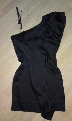 Schickes Cocktailkleid Größe 36 asymmetrisch schwarz Satin *neu*