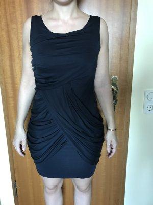 Schickes dunkelblaues Jerseykleid mit Raffungen Größe XS/ 34 von COS