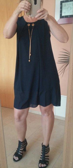 Schickes dunkelblaues Kleid Gr. S