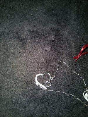 Schickes echt Silber Herzarmband