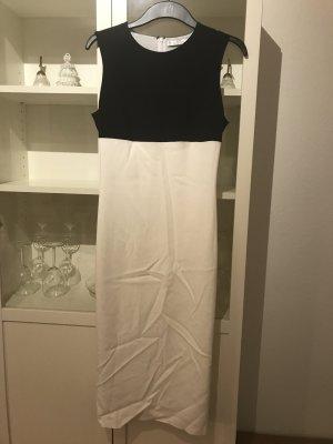 Schickes enganliegendes Kleid in Blau/Weiß