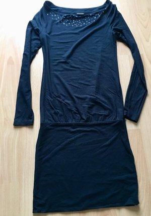 Schickes, festliches Esprit Kleid mit langen Ärmeln und Strass - Ausschnitt