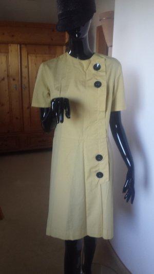 Schickes gelbes Kleid im Hepburn-Stil in Wildseide, Gr. L