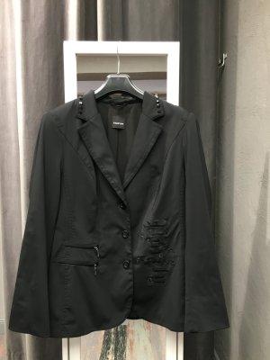 Schickes glänzendes Jacket von Taifun mit Schmucksteinen & Stickerei Größe 44