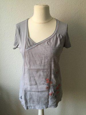Schickes graublaues sommerliches T-Shirt Gr. L