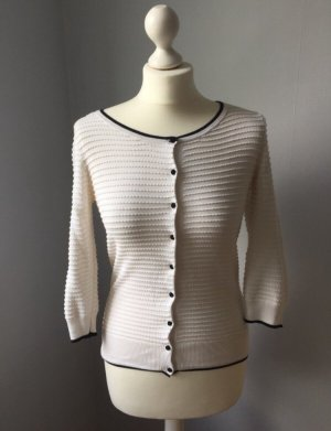 H&M Knitted Blazer white-black