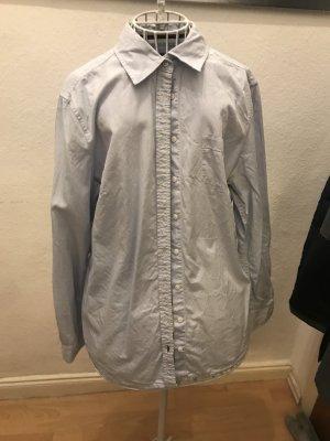 s.Oliver Camisa de manga larga marrón oscuro-azul celeste
