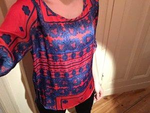 Zara Chemise rouge-bleu