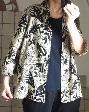 Blouse Jacket beige-black polyester