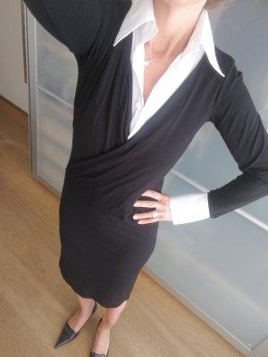 schickes Jerseykleid mit Bluseneinsatz