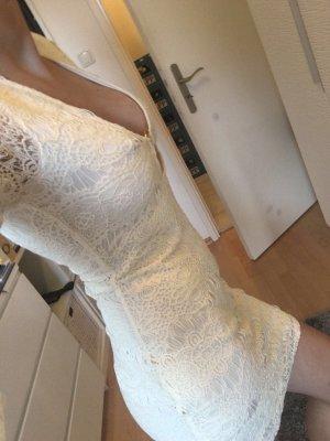 H&M Kanten jurk goud-wolwit