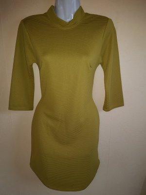 Schickes Kleid im Olivgrün / Senffarben mit Kragen