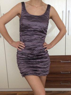 Schickes Kleid in lila metallic - Bolero geschenkt dazu!