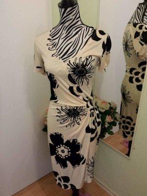 Apart Vestido de tubo negro-blanco puro Sintético
