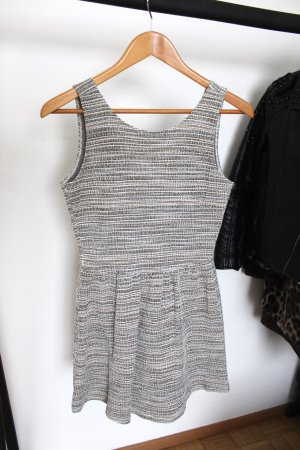 Mango Pinafore dress silver-colored-taupe