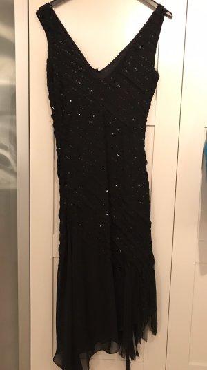 Schickes Kleid Midi Angi Abiball Brautjungfer schwarz 36 Pailetten