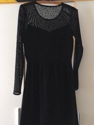 Only Vestido elástico negro Algodón