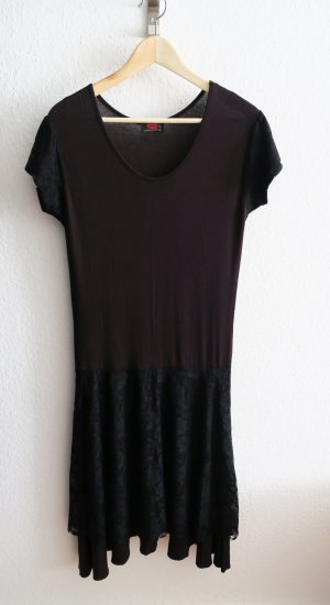 Kanten jurk zwart Viscose