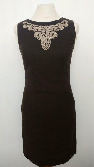 Schickes Kleid Schulterfrei Braun Beige Figurbetonend