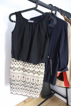Apricot Sheath Dress black-natural white