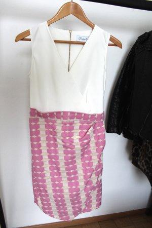 Asos Robe portefeuille blanc-rose
