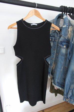 Zara Cut out jurk zwart
