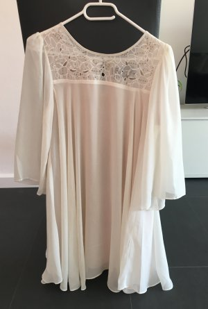 Schickes Kleid Weiß Pailetten H&M