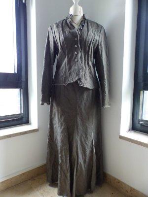 schickes Kostüm / Blazer und Rock in grau von Taifun Collection grau-grün