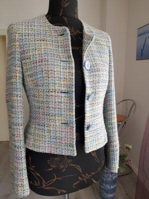 Blazer in lana rosso chiaro-azzurro