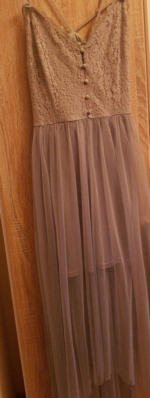 schickes langes Abendkleid in hellem türkis Größe 36