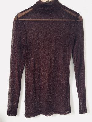 Hallhuber Donna Top lungo bordeaux-oro