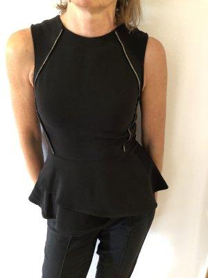 H&M Boatneck Shirt black-silver-colored