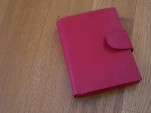 Portefeuille rouge cuir