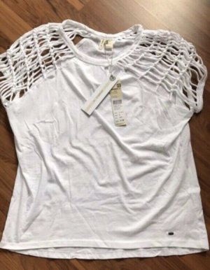 ONEILL Top en maille crochet blanc cassé coton