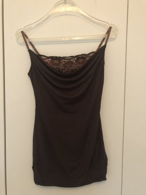 Pimkie Spaghetti Strap Top dark brown