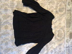 Mango Short Sleeved Blouse black