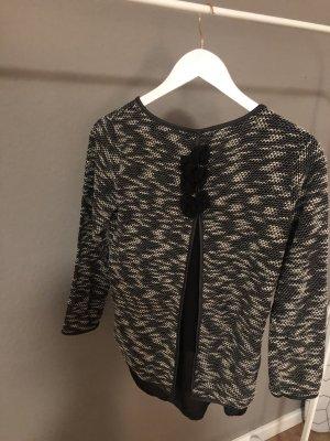 Apricot Kraagloze sweater zwart-wit Polyester