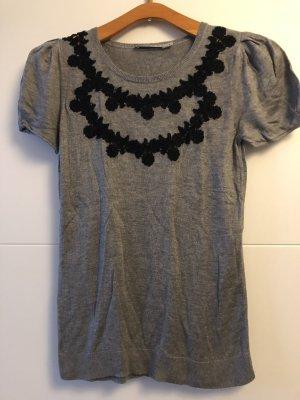 Kookai Maglione a maniche corte grigio-nero