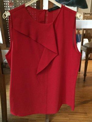 Schickes Oberteil von Zara in rot, Gr L