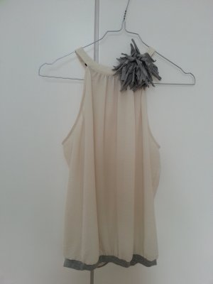 Schickes Oberteil Zara grau nude S transparent